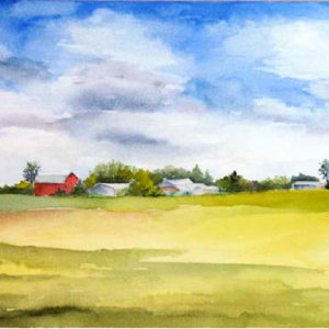 Watercolor landscapes by Rose Bradley